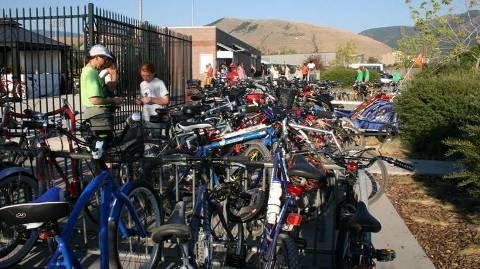 Part of the cost for each 2010 Bike Club membership will go towards improving bike parking at Ogren Park Allegiance Field.